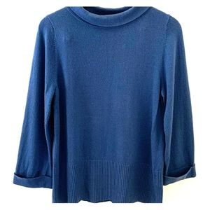 💜Boden chic, funky funnel neck cashmere, gorg!